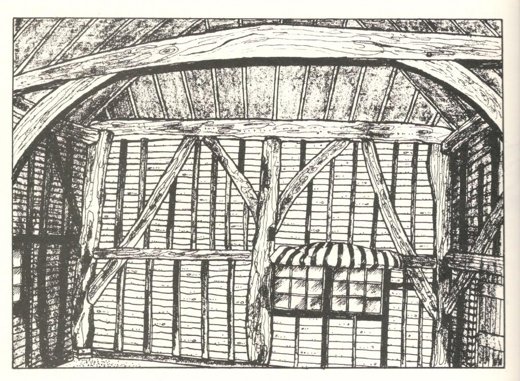 Inholms Barn c 1500 The Oldest BArn in the Parish