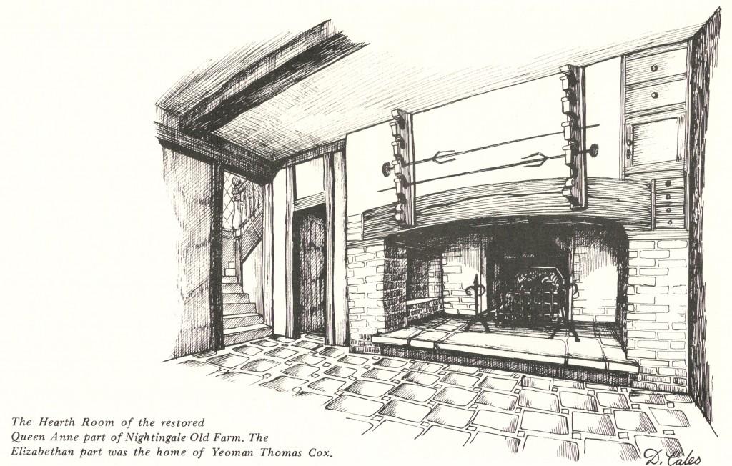 Hearth Room of Nightingale Old Farm - home of Yeoman Thomas Cox
