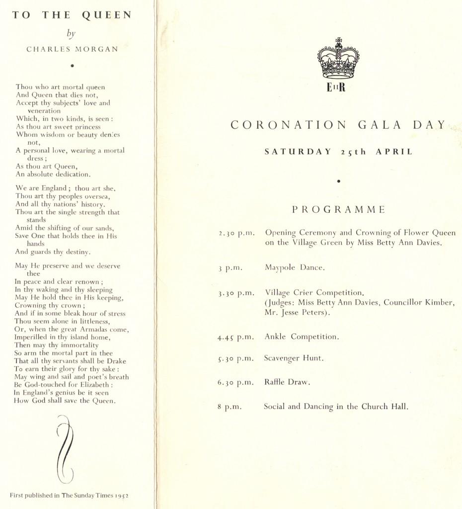 Coronation Gala Day Programme 1