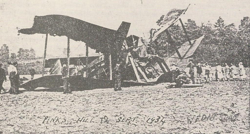 Plane Crash at Wildfield Field