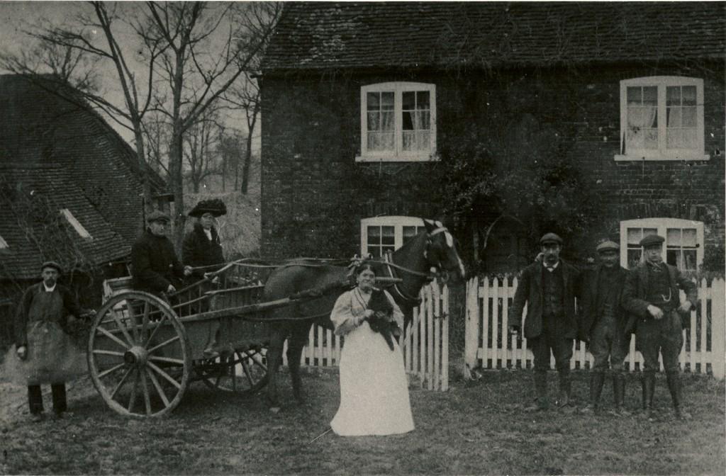 The Cousins Family outside Hillplace Farm