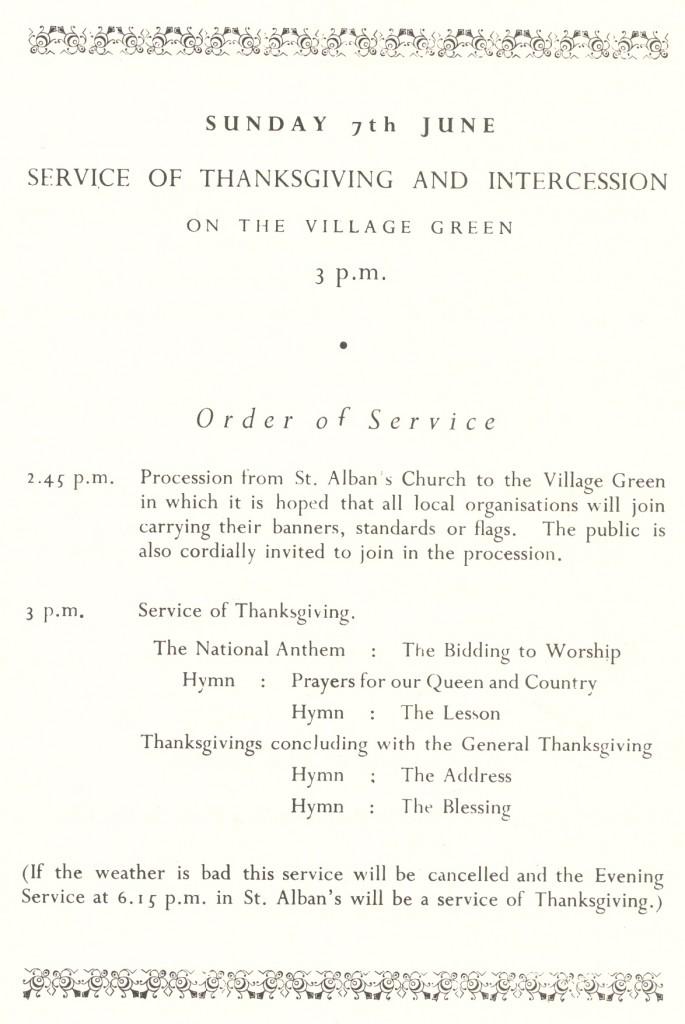 Coronation Programme part 2