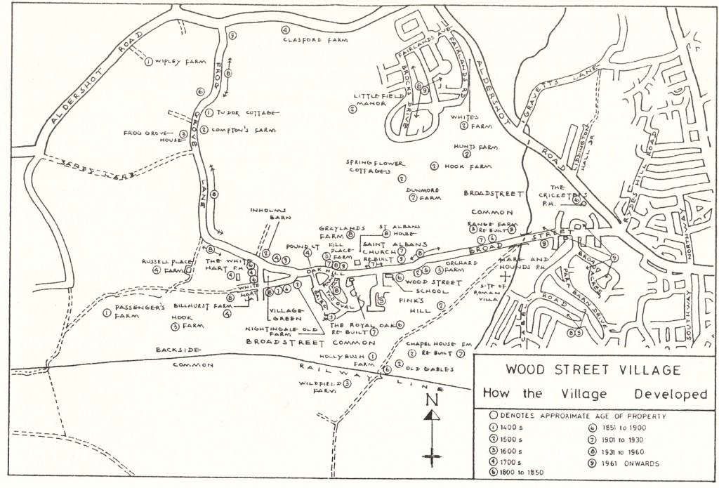 Map of How the Village Developed