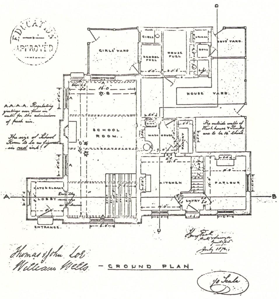 Wood Street Proposed School Plan 1872