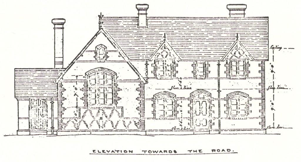 Wood Street Proposed School Elevation 1872