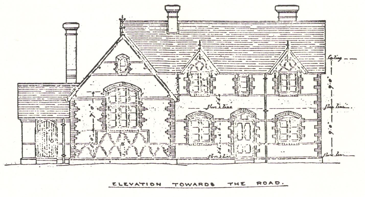 Wood Elevation Uk : School plans wood street village history society